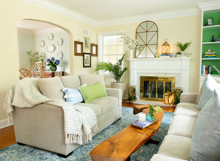 Fifty Shades Of Beige. Living Room & Dining Room Make Over.