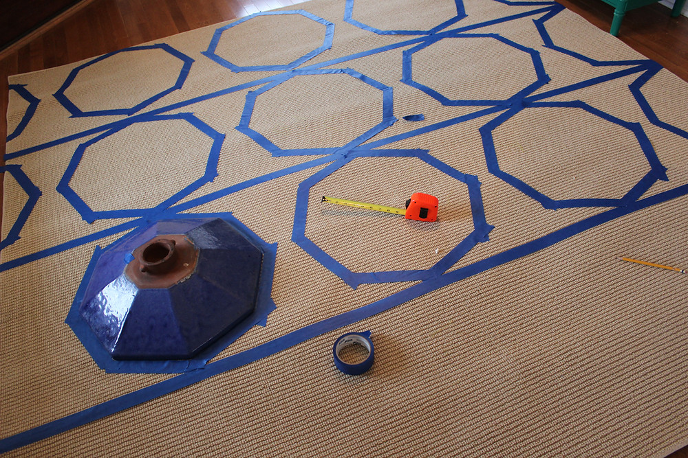 Octagon with Painters Tape