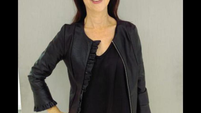 Copy of Kate + Pipa black leatherette jacket