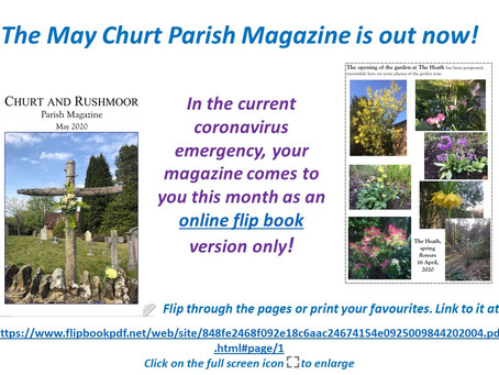 The May Churt Parish Magazine is out now!