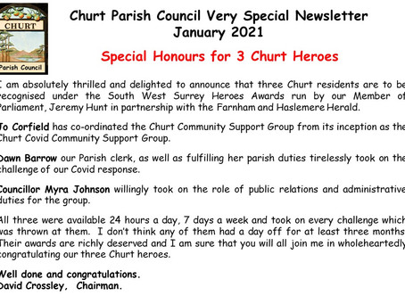 Special Honours for Three Churt Heroes