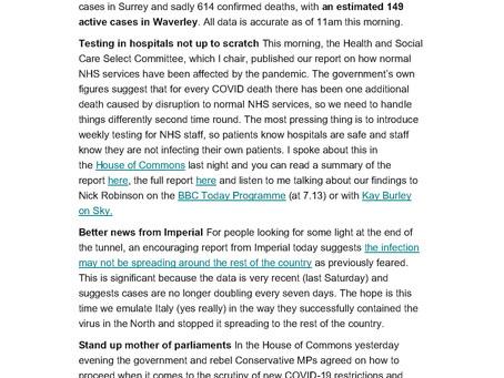 Jeremy Hunts Newsletter 1st October 2020
