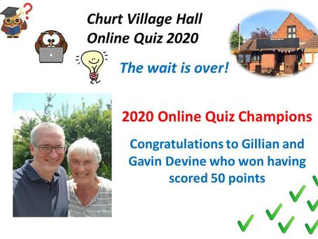 Village Hall Quiz Winners