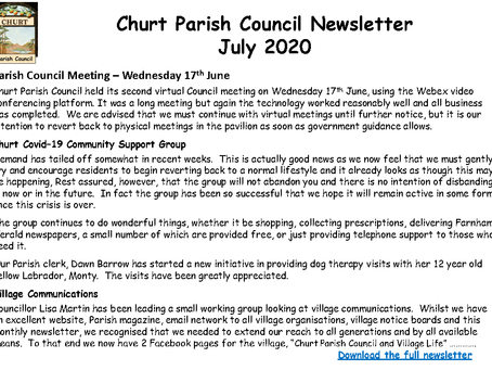 Churt Parish Council July 2020 Newsletter