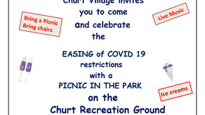 Churt Village Invites You to a 'Picnic in the Park' on 11.09.21 from 2.30 to 5.30