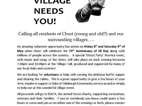 Volunteer for the 75th Anniversary of VE Day in Churt