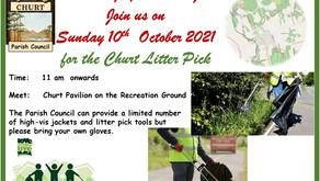 Churt Litter Pick Sunday10th October at 11am
