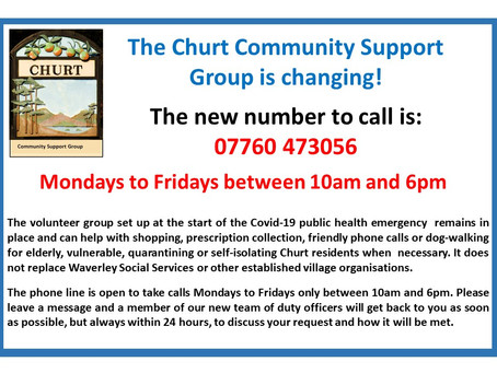 Community Support Group Changes