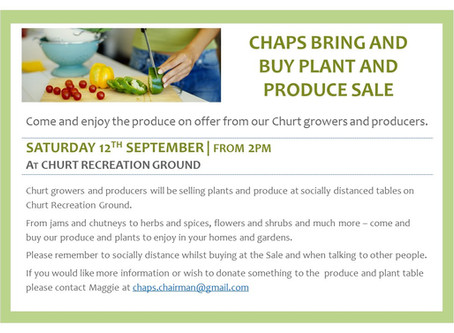 CHAPS Bring and Buy & Plant Sale