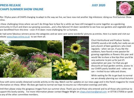 CHAPS July 2020 Press Release