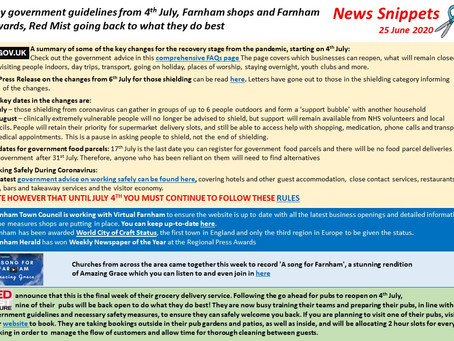 News Snippets 25 June 2020