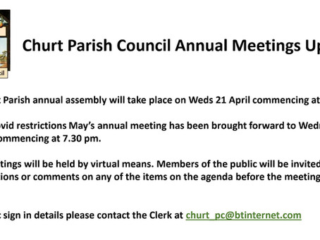 Annual Meeting Dates & Times 2021