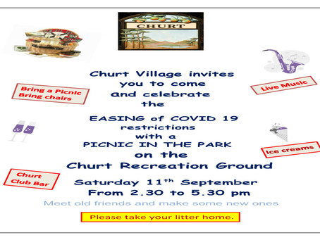 Churt Village Invites You to a Picnic in the Park