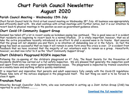 Churt Parish Council August Newsletter