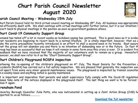 Churt Parish Council August Newsletter