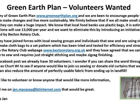 Green Earth Plan - Volunteers Wanted
