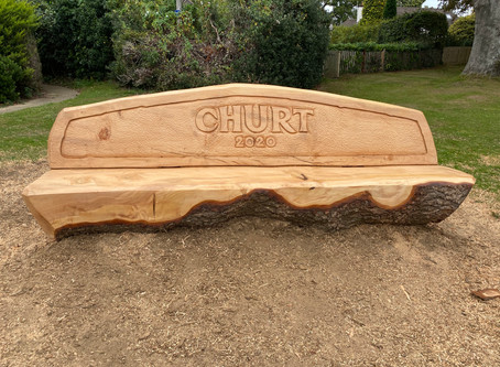 Pictures of Churt Recreation Ground Bench Being Created...