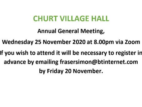 Churt Village Hall AGM