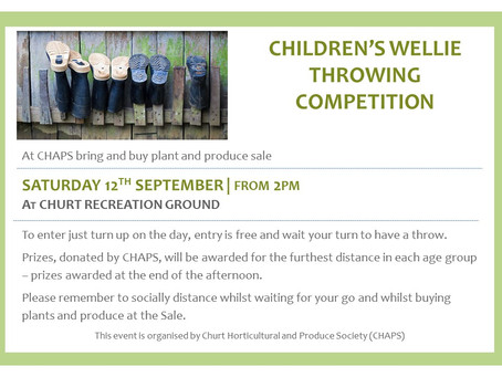 CHAPS Wellie Throwing Competition
