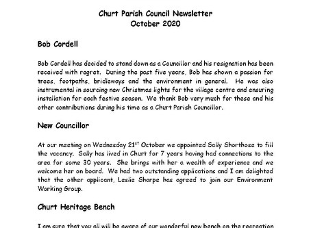 Churt Parish Council Newsletter October 2020
