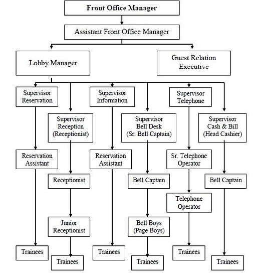 Front Office Hierarchy
