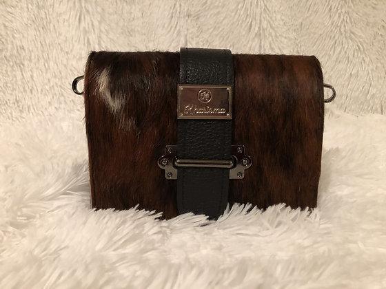 Genuine Leather & Cavallino Crossbody