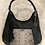 Thumbnail: Oversized Genuine Snakeskin & Leather Hobo - Dark