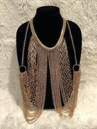 Jewelry—Gold-tone Body Necklace