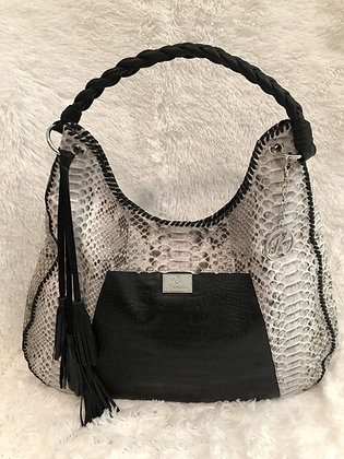 Genuine Snakeskin & Leather Hobo