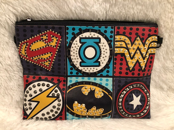 Superhero Avengers Rivet Clutch/Crossbody Bag