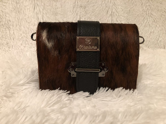 Genuine Leather and Cavallino Crossbody/Belt Bag