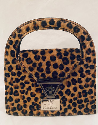 Cheetah Cowhide Mini Crossbody Bag