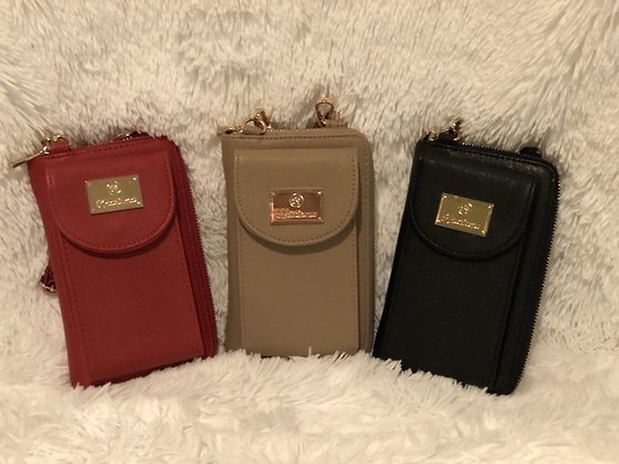 Cellphone Wallet with Zipper Closure