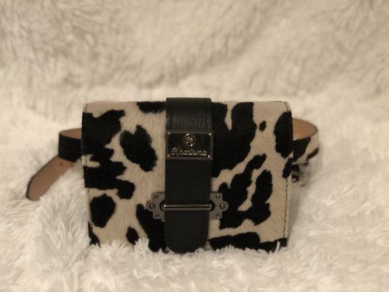 Genuine Leather and Cavallino Crossbody Fanny Belt Bag