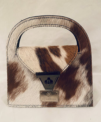 Light Brown Cowhide Mini Crossbody Bag