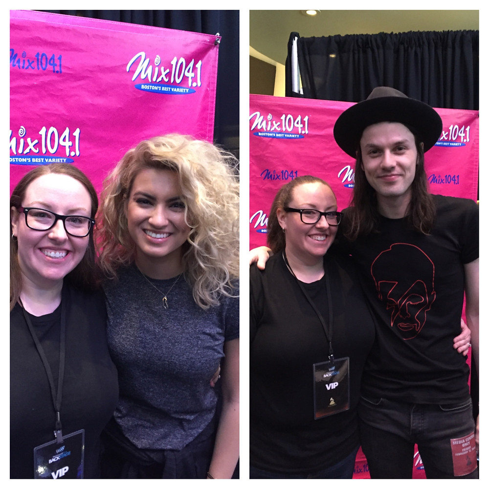 Alicia Love with Tori Kelly and James Bay.