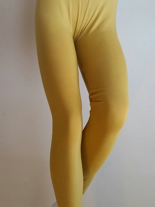 Ankle length leggings Mustard