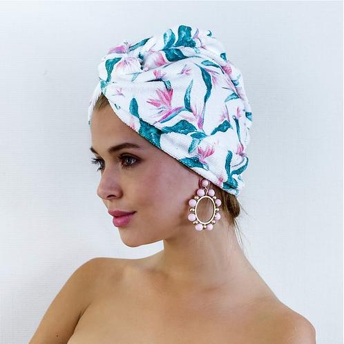 Louvelle Hair Towel Wrap- Bird of Paradise