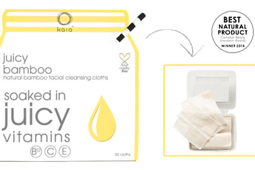 Juicy Bamboo Cleansing Cloths (30 pack)