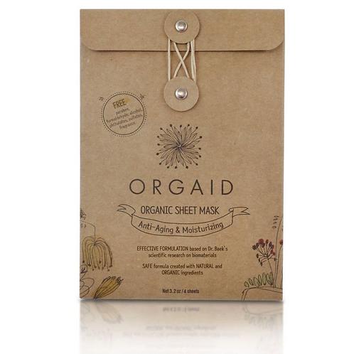 Orgaid Anti-Aging & Moisturizing Sheet Mask set of 4