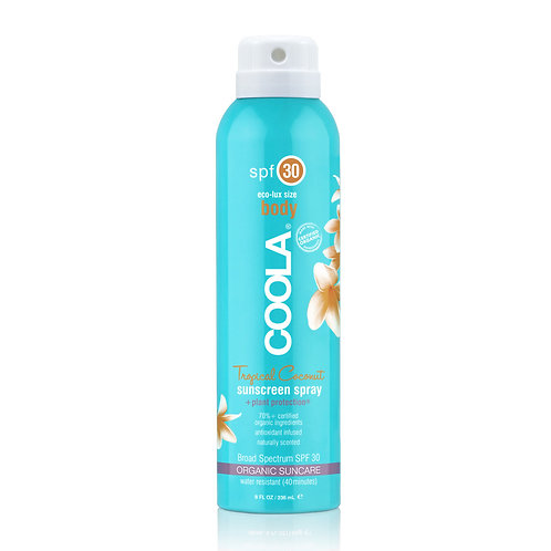 COOLA Sunscreen Spray Tropical Coconut (6 oz)