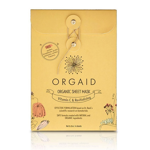Orgaid Vitamin C & Revitalizing Mask set of 4