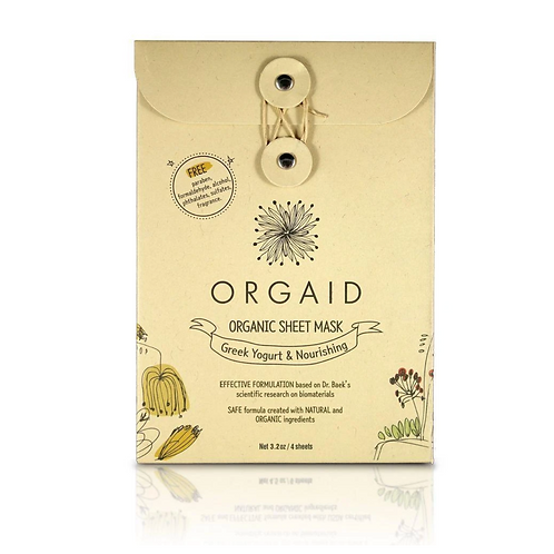 Orgaid Greek Yogurt & Nourishing Sheet Mask set of 4