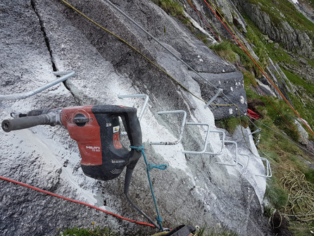 Klettersteig im Bau