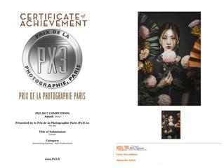 2017法國PX3國際攝影大賽參賽得獎 兩銀一榮譽