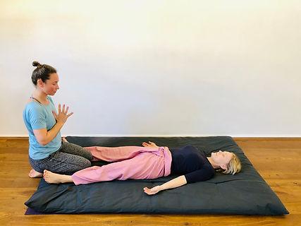 Thai Yoga Massage start and end position