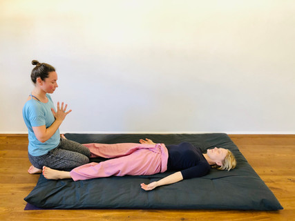 Thai Yoga Massage start and end position