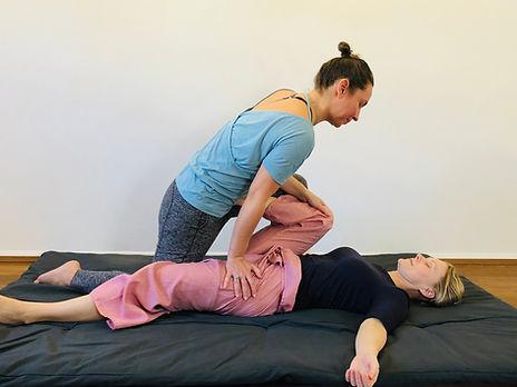 Thai Yoga Massage Hip Stretch