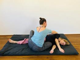 Thai Yoga Massage Pull-over Twist