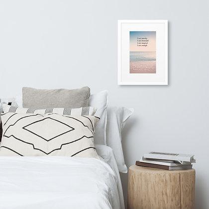 'I Am' Affirmations Framed Print